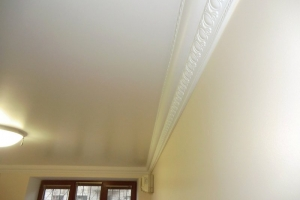 Покраска потолка и лепнины