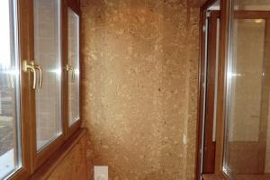 Капитальный ремонт квартиры Донецк, тёплая лоджия. Пробковая отделка стен.