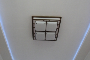 Капитальный ремонт квартиры Донецк. Потолок с подсветкой в зале